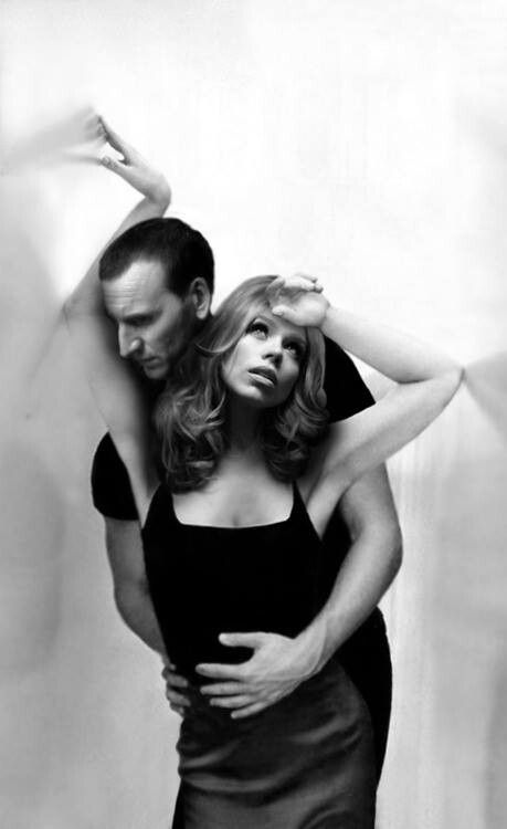 Billie Piper, Christopher Eccleston. I miss him :( they were so beautiful together such a lovely man