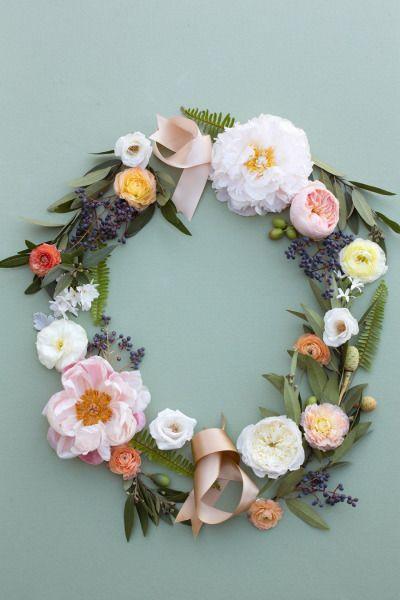Pretty peonies: http://www.stylemepretty.com/living/2015/08/05/diy-summer-floral-wreath/