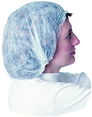 """Impact 7387W18 Spunbonded Polypropylene Non-Woven Bouffant Cap, 18"""" Diameter, White (10 Boxes of 100). The elastic components in Impact's disposable clothing are made of 100 percent latex free materials. Made of spunbonded polypropylene. Non-woven bouffant cap. Great for hospitals, lab work, food processing and handling, manufacturing. 18"""" Diameter. White color."""