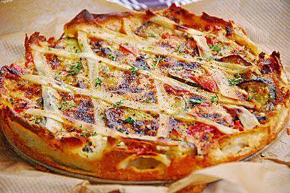 Pizza zucchini schafskase