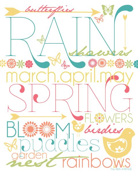 Free Spring Printable from the36thavenue.com. Happy Spring :)