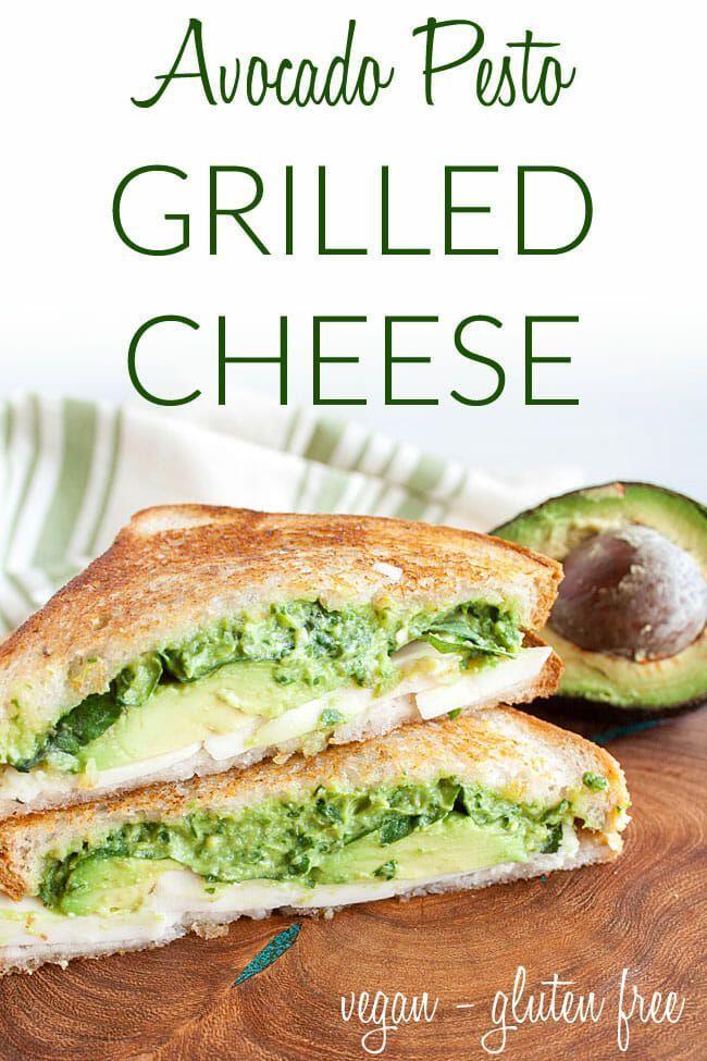 Avocado Pesto Grilled Cheese In 2020 Vegetarian Sandwich Pesto Grilled Cheeses Simple Sandwiches