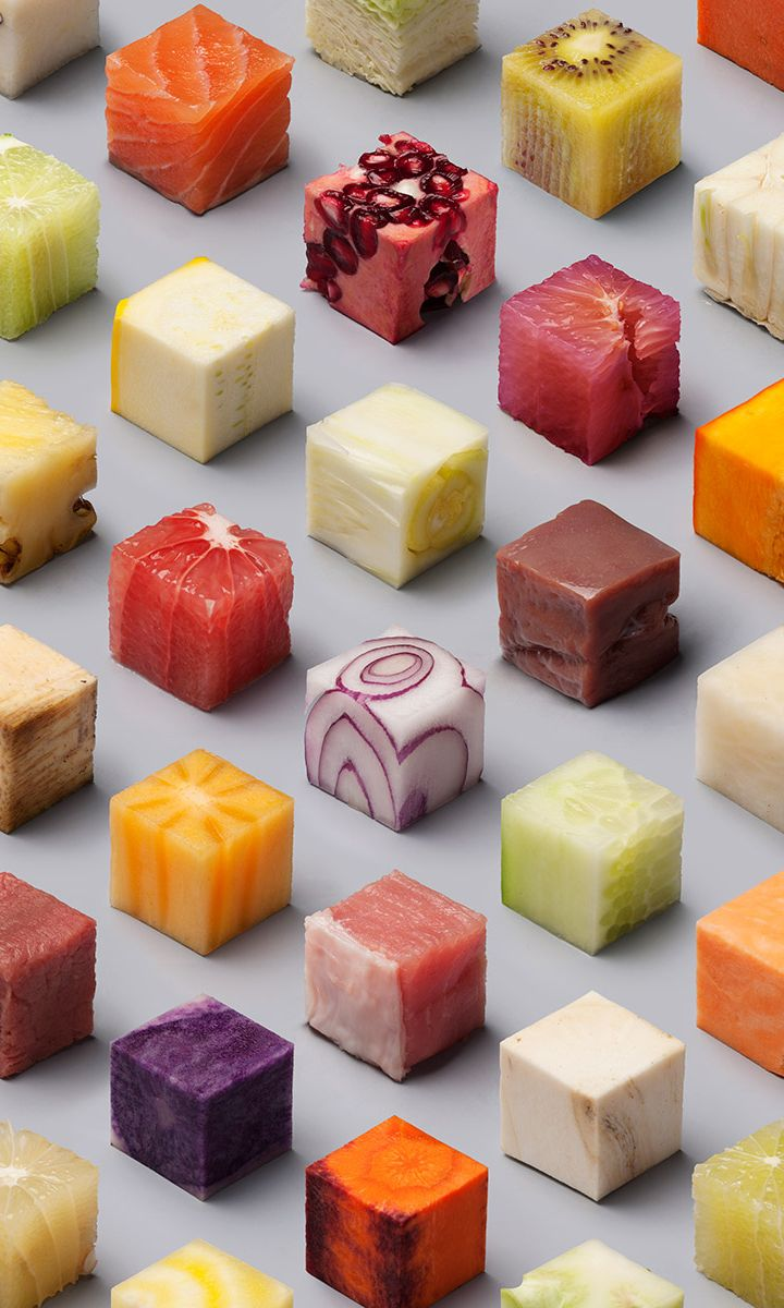 98 perfectly-arranged cubes of food are visually delicious                                                                                                                                                                                 More