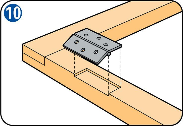 Fabriquer une moustiquaire pour porte/fenêtre - Pose des charnières