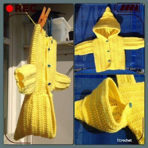 iCrochetstuff: Hoodie baby vestje haken met simpel patroon!! Easy crochet pattern