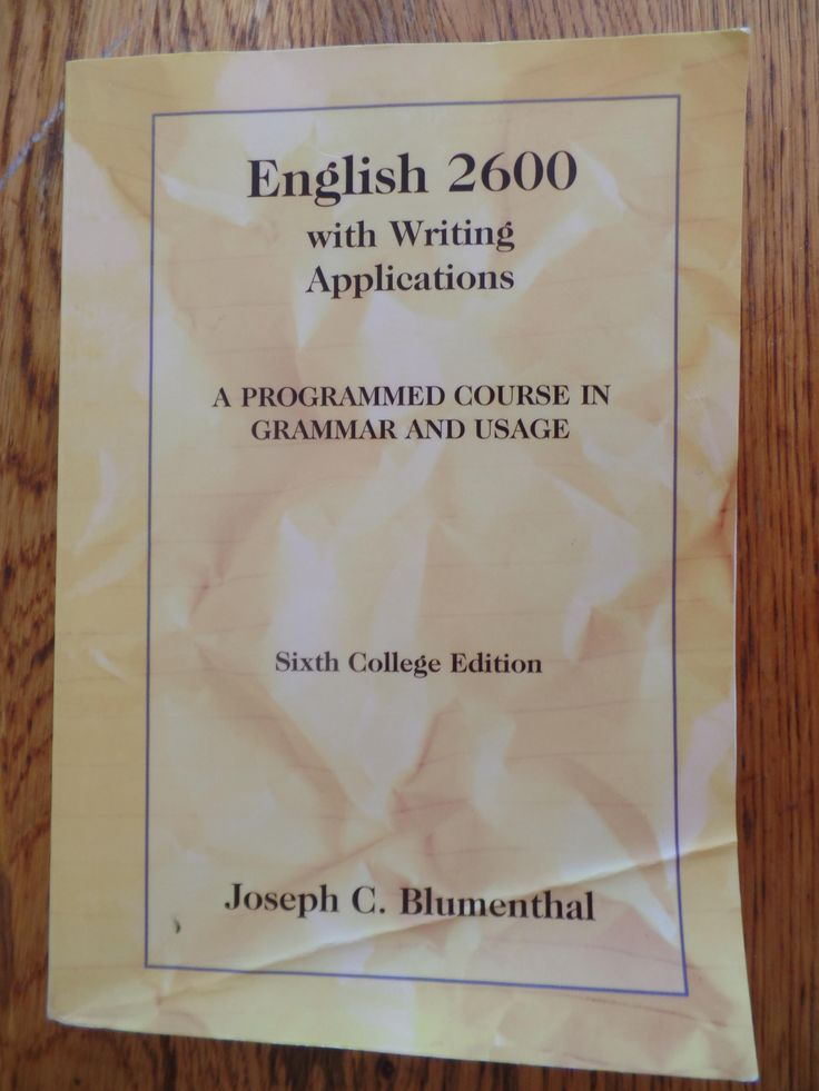 A quality, independent high school level program, English 2600 is high school grammar fun which may help on ACT and SAT exams as well.