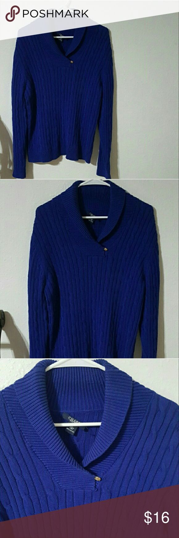 *LIKE NEW* CHAPS Royal Blue Sweater Women's Sz XL *LIKE NEW CONDITION*  CHAPS Royal Blue Sweater   Women's Size XL Chaps Sweaters