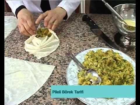Yeşil Mercimekli Büzgülü Midye Börek Tarifi - Pileli Börek - YouTube