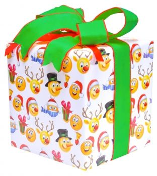 """Emoji Christmas Wrap What could be more #fun for all your #computer #savvy #friends than this delightful #assortment of #Holiday #Emoji images. #Kids #love it!   24"""" x 15' long roll (36 sq. ft.)"""