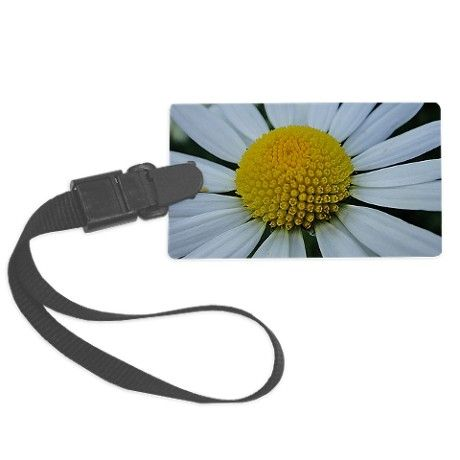 Pretty white chrysanthemum Luggage Tag on CafePress.com by fotosbykarin #luggagetags #flowers #chrysanthemum #white #cute #gifts #fotosbykarin #cafepress #KarinRavasio