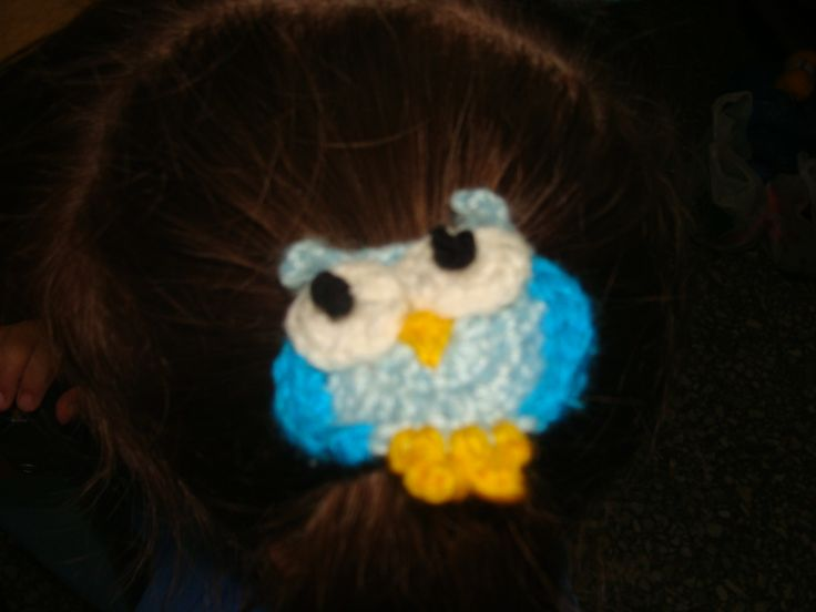 Hebilla búho crochet