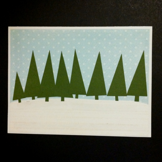 Home made Christmas card from scraps!