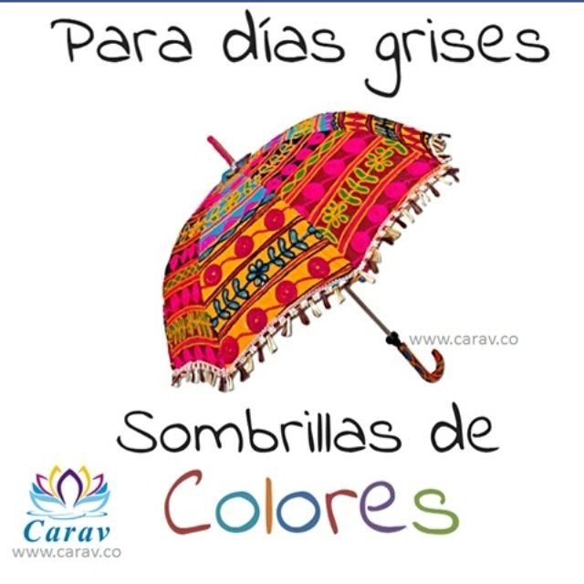 Para días grises... Sombrillas de Colores!!! Feliz viernes!!!