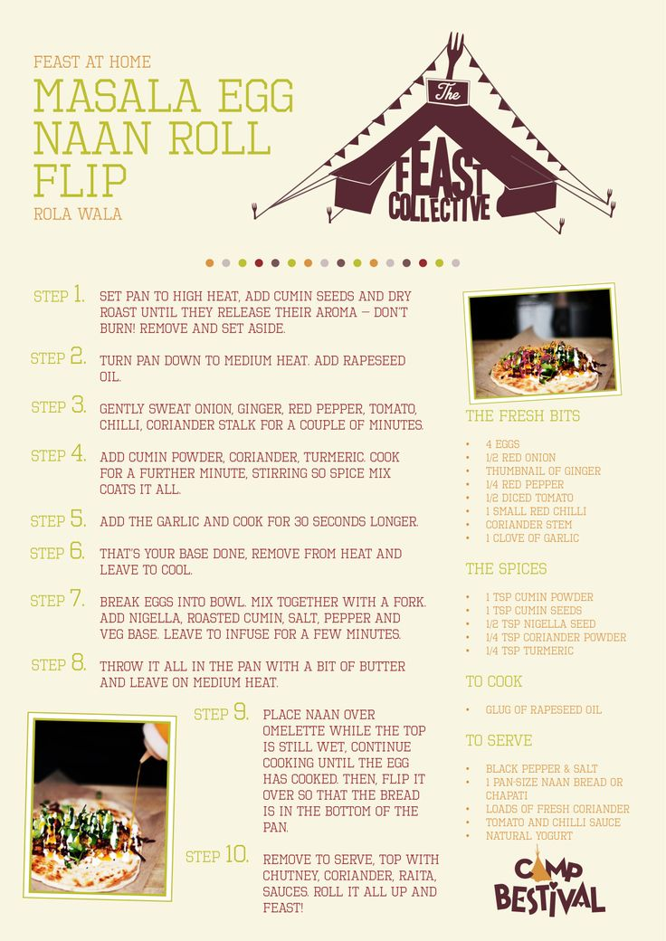 Rola Wala's Masala Egg Naan Roll Flip Recipe - catch them at The Feast Collective at Camp Bestival :)