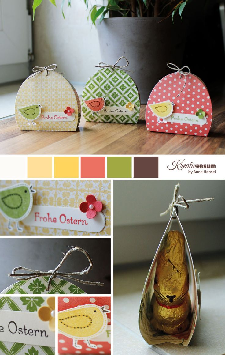 Ostergoodies -- cute Easter wraps for chocolate bunnies