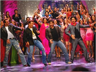 Om Shanti Om - the bit at the end where they sing the title song - wonderful!