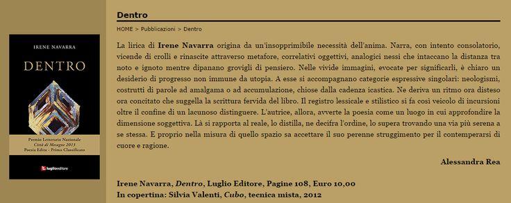 Irene Navarra / Visioni: Irene Navarra / Dentro / Luglio Editore.