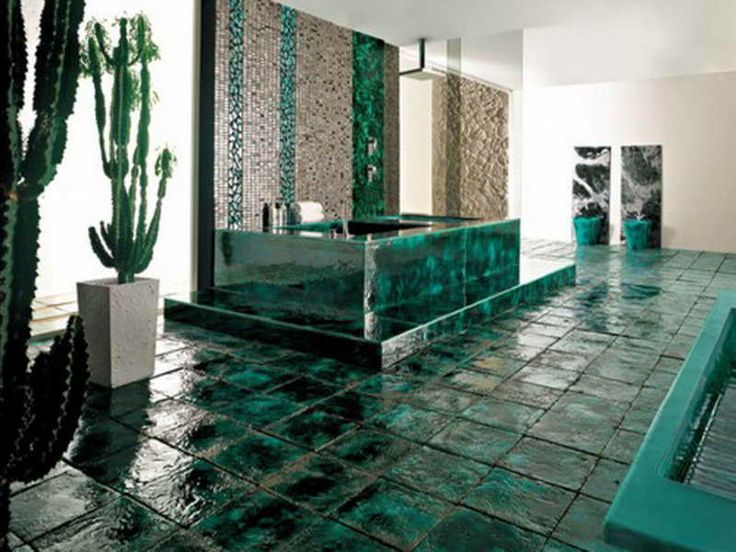Bathroom Tile Design Patterns With Green Blends ~ Http://lanewstalk.com/