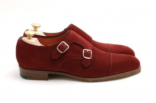 Absolutely stunning red suede double monks from Edward Green