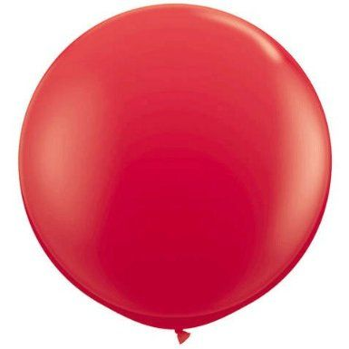 Amazon.com: Standard Red 3' Latex Balloon: Toys & Games