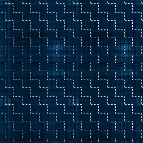 Sashiko: Dan-Tsunagi - Connected steps fabric by bonnie_phantasm on Spoonflower - custom fabric