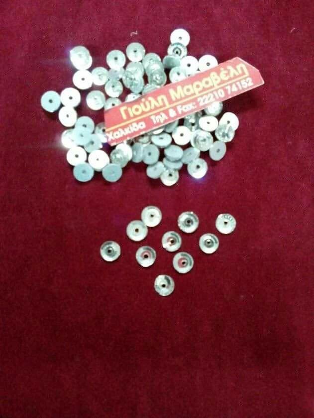 Κρύσταλλοι για κέντημα σε εργόχειρα και νυφικά. .Μέγεθος 5 χιλιοστών=0,07 το τεμάχιο(100 τεμ:7 ευρώ). .