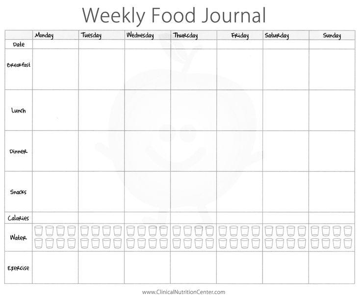 Best 25+ Food journal printable ideas on Pinterest Free - exercise log template
