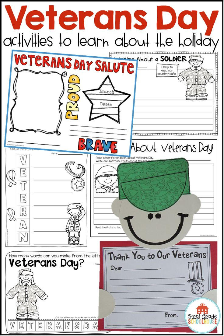 Veterans Day Activities and Craft Veterans day