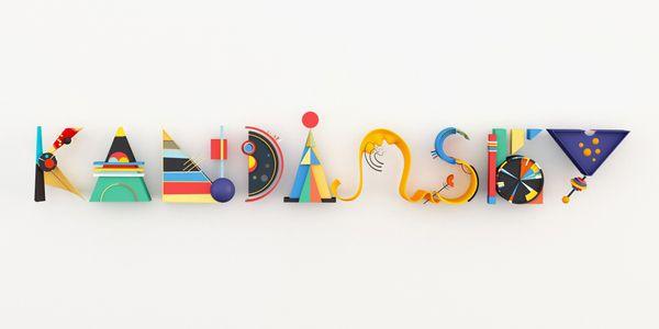KANDINSKY TYPE by Sinan Buyukbas, via Behance: Plays Colors, Color Schemes, Style Typo, Kandinsky Typ, Kandinsky Style