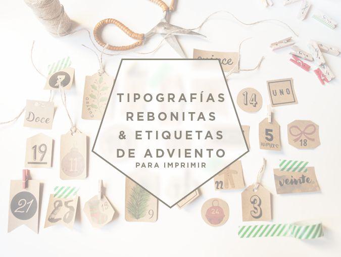 milowcostblog: tipografías rebonitas y etiquetas de adviento