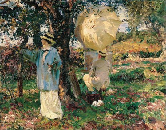 John Singer Sargent (American, 1856-1925)  The Sketchers, 1914