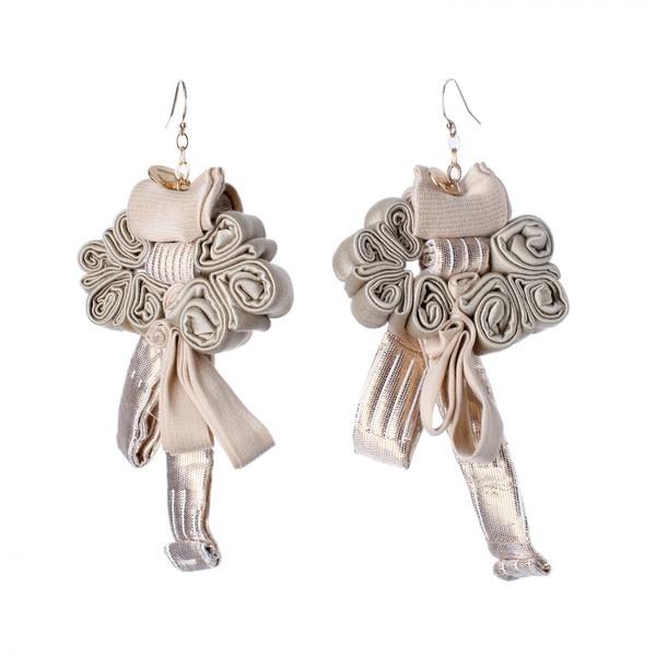 Doridea Sweet Magnolie Earrings ($60) ❤ liked on Polyvore