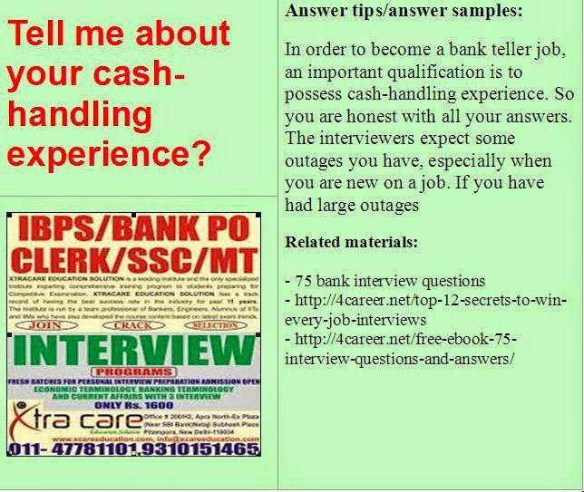 15 best Bank interview questions images on Pinterest Bank teller