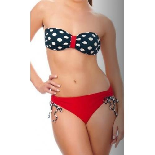 Puantiyeli straplez bikini