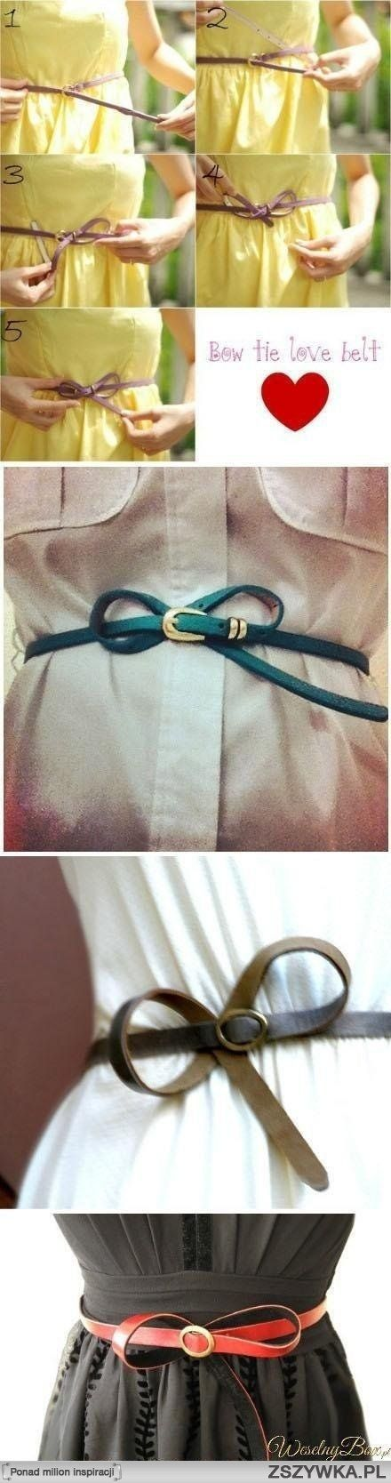 Bow tie belt.