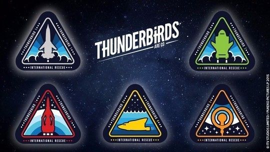 Thunderbirds badges for each member of IR and their craft