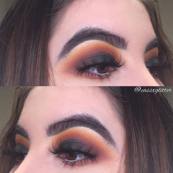 """194 Likes, 7 Comments - @cassxglitter on Instagram: """"Haven't done an all warm toned look in awhile, so here's my warm toned, all matte half cut crease …"""""""