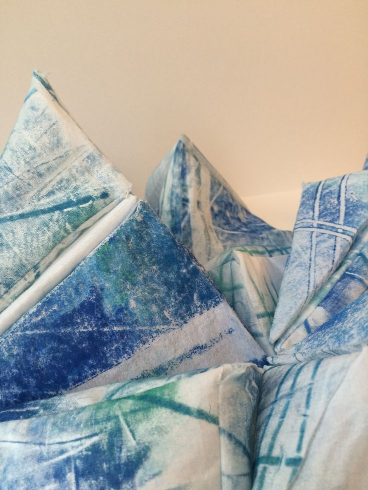 Cotton and interfacing with mono-print. Physical Thinking. 2015. Lucy Guy