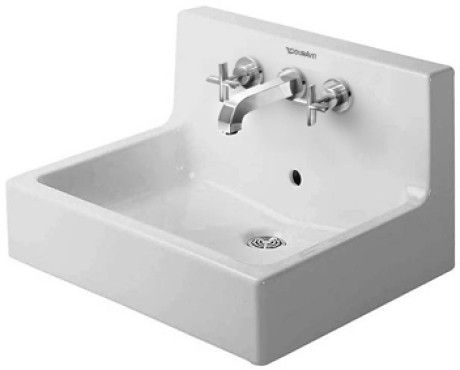 Duravit Vero Wall-Mount Porcelain 18.55 23.62 Bathroom Sink ...