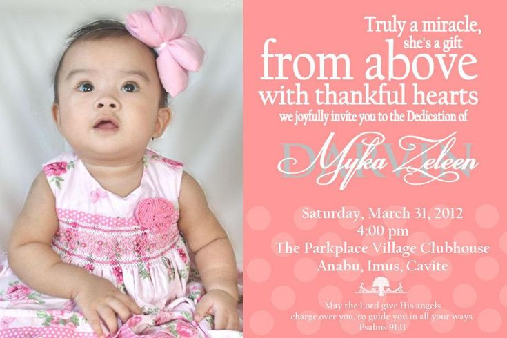 Baby S Dedication Invitation Oh Baby Pinterest