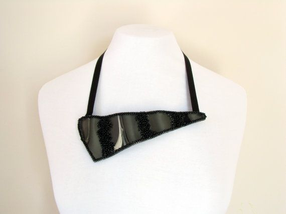 Hey, I found this really awesome Etsy listing at https://www.etsy.com/se-en/listing/165359412/wave-black-necklace-avant-garde-necklace
