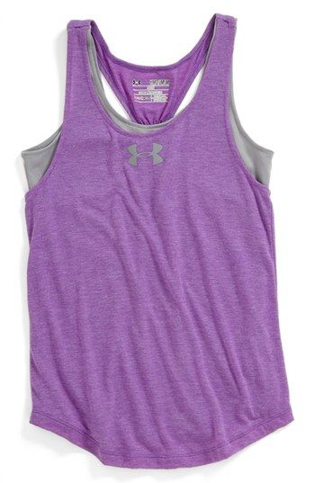 Under Armour 'Double the Fun' Tank Top (Big Girls) available at #Nordstrom