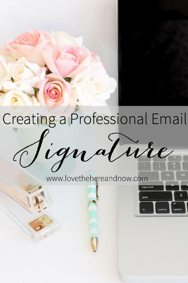 Creating a Professional Email Signature