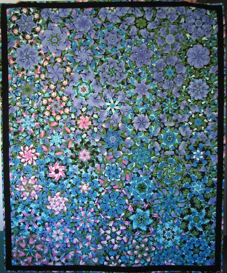 Quilted Throw , Kaleidoscope Quilt , Floral Quilt , Floral Lap Quilt by VillageQuilts on Etsy