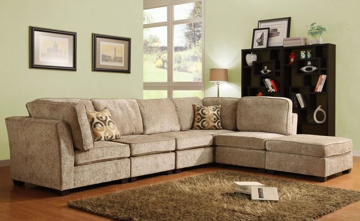 Burke Modular 6Pcs Sectional Sofa 9709CN(2Corner Seat,3 Armless Chair,Ottoman)The clean design of the Burke Modular Collection allows for placement in number of living room designs. The decidedly elegant, yet, understated collection is offered in a dark brown 100% polyester and features a coordinating ottoman and toss pillows. Also available in brown beige chenille.Features:Burke Modular CollectionChenilleDimensions:Overall : 134 x 104 x 36HCorner Seat :37 x 37 x 36HArmless Chair :30 x…