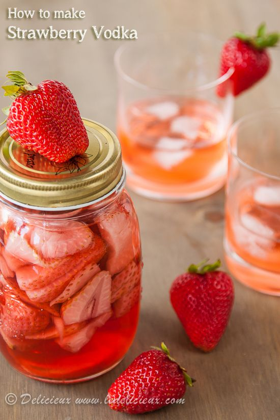 How to make Strawberry Vodka - a beautiful homemade gift to give this Christmas