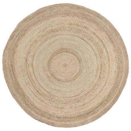 Madras Round Floor Rug 250cm  Natural