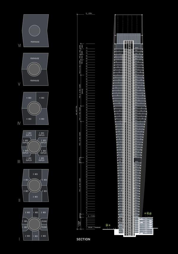 SOM For Dubai / Infinity Tower Near Completion