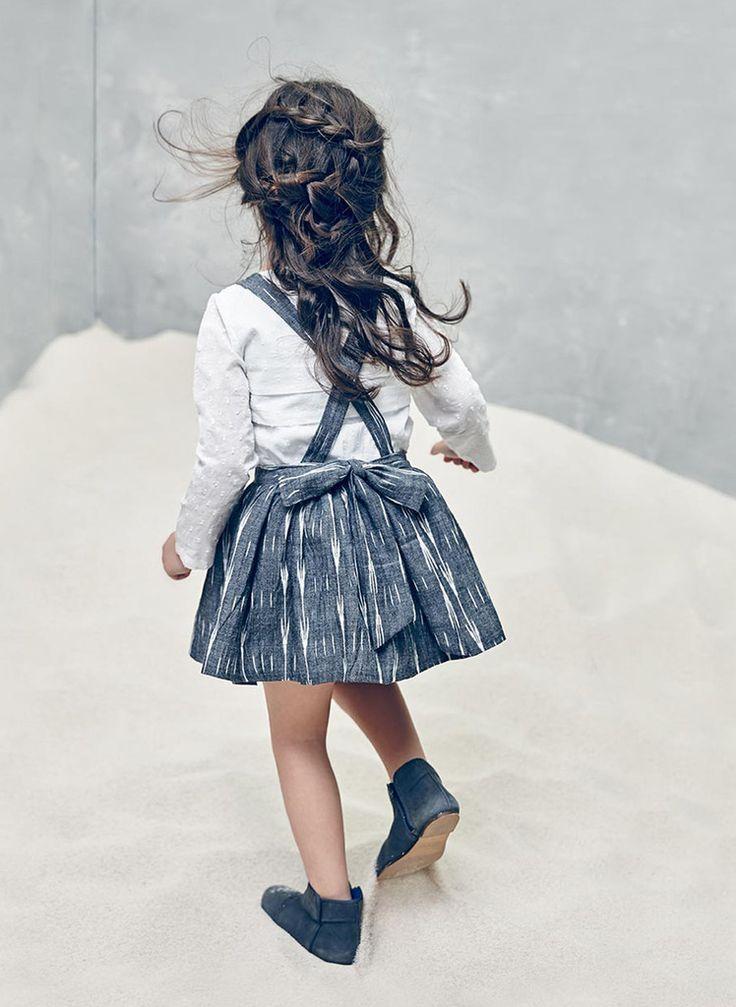 Nellystella Ella Dress in Black & White Ikat  - Hello Alyss - Designer Children's Fashion Boutique