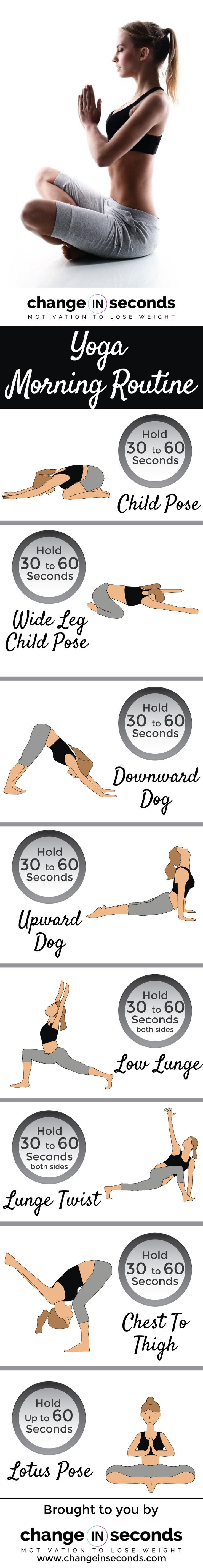 Yoga Morning Routine (Download PDF) http://www.changeinseconds.com/yoga-morning-routine/